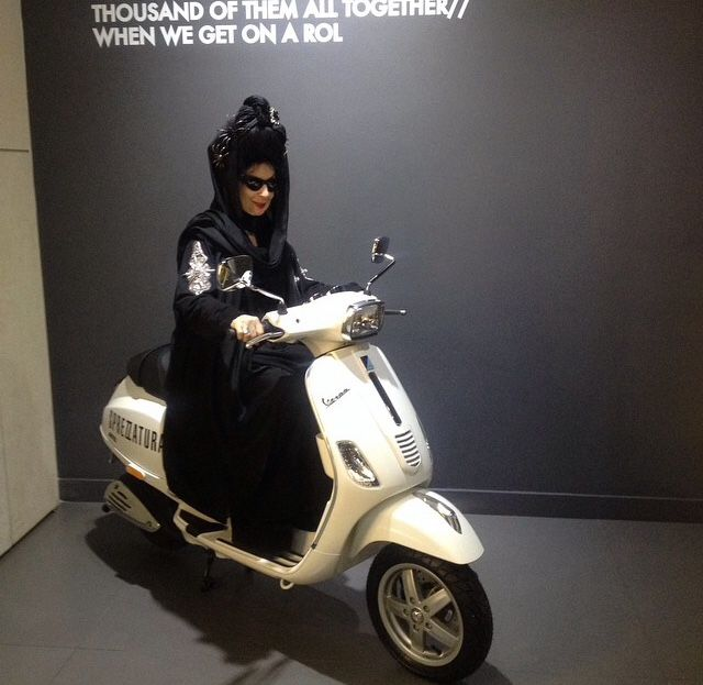 You wont believe who was riding our vespa yesterday night! Coz we still cant believe it too! #DianePernet by herself at our store at Esentai Mall