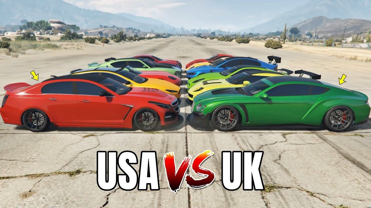 GTA 5 Online USA SPORT CARS VS UK SPORT CARS (WHICH IS