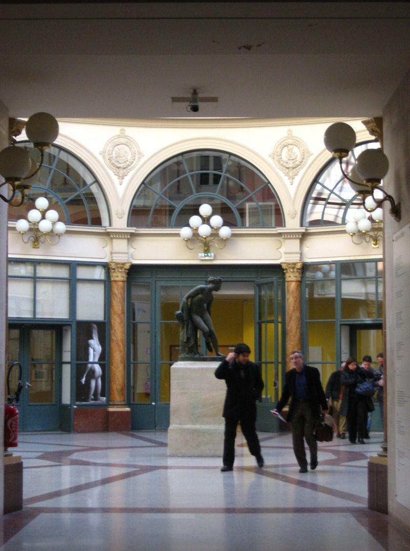 The interior of Galerie Colbert in Paris