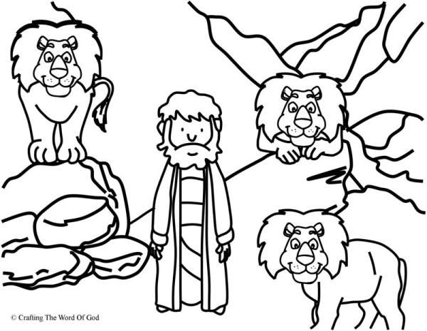 Daniel In The Lions Den Coloring Page Daniel And The Lions