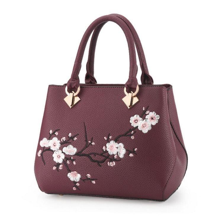 fa0e4e44dab9 Evening Cherry Blossom Top-handle Handbag -6 Color Options-