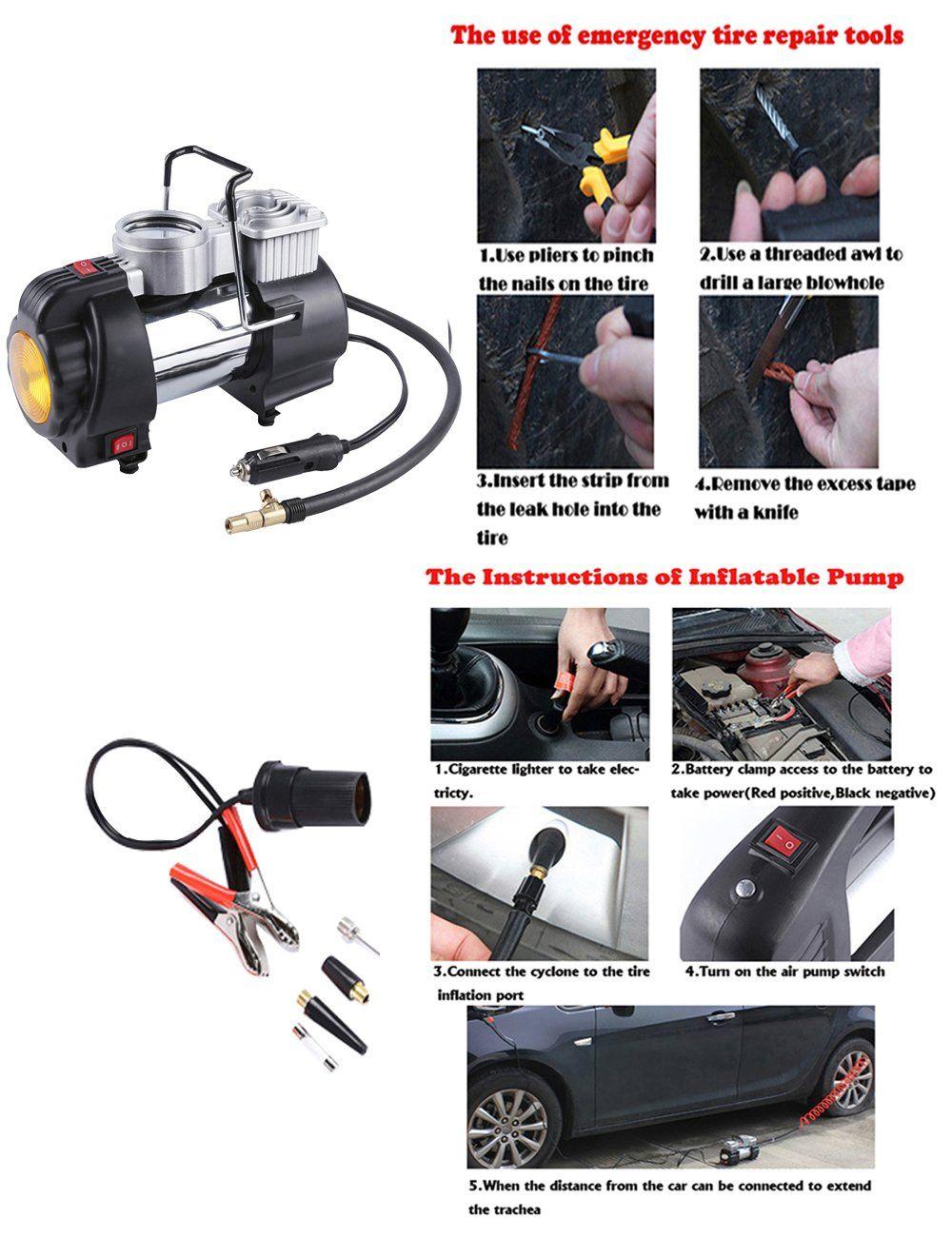 12V 180W 35L/Min Car Single Cylinder Inflator Portable