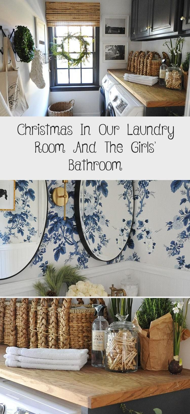 Christmas In Our Laundry Room And The Girls Bathroom Girls Bathroom Room Design Laundry Room Flooring