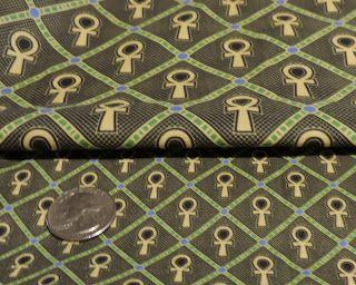 ankh print fabric