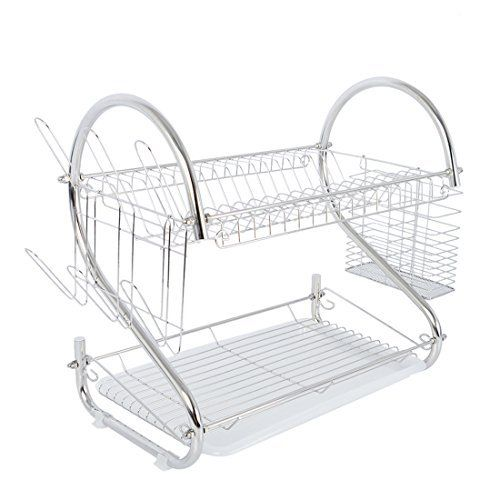 Nex Dish Rack 2 Tier Stainless Steel Dish Drainer Rack Do Not Need