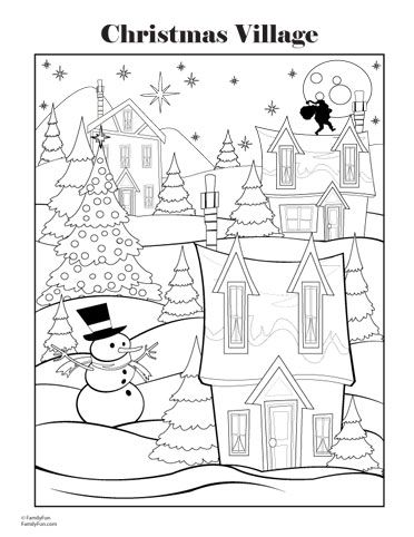 christmas printables for kids coloring sheet pinterest activities therapy and christmas villages
