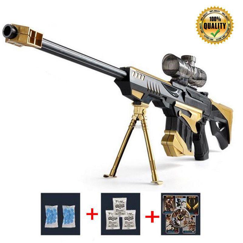 Action figures · Golden Barrett Rifle Nerf Toy Gun Sniper Pistol Water ...