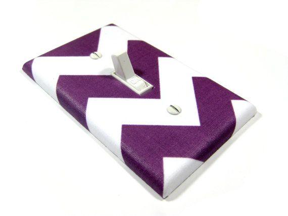 Plum Purple Chevron Light Switch Cover Teen Girls Bedroom Decor Switchplate  Rocker Switch Plate On Etsy, $12.00