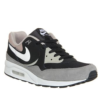 nike air max light sneaker black white chino flat pewter horse