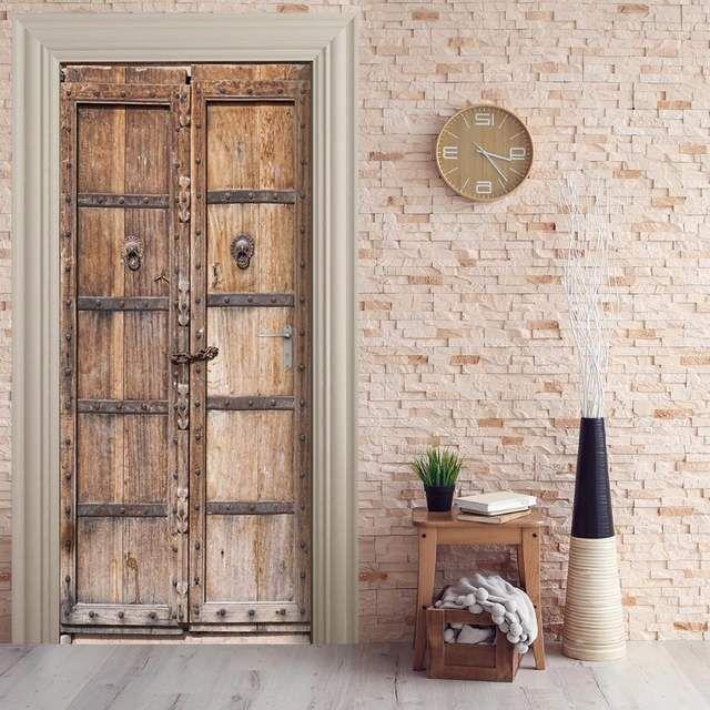 US .9 35% OFF Free shipping 3D wooden door pattern Door W…