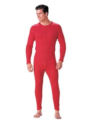 67409982510aac Old Fashioned Union Suit 100% Cotton One Piece Long Johns Available in Red  or White.