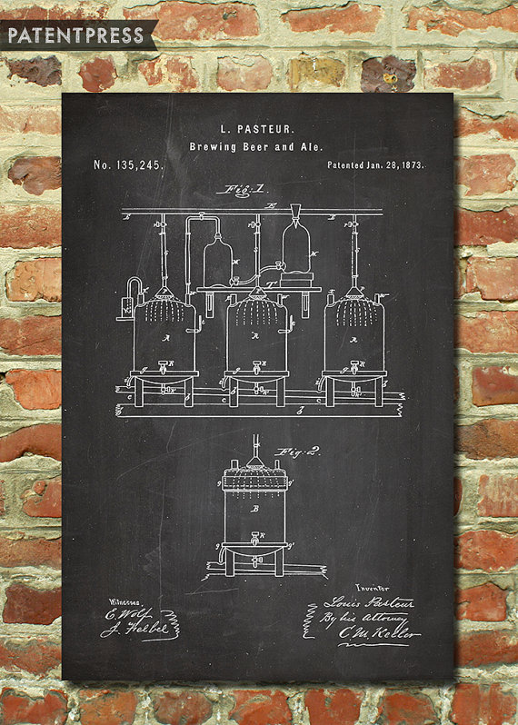 Mens Beer Gift for Him, Beer Brewery Art, Dad Beer Gift for Men, Beer Wall Art, Craft Beer Art, Patent Print, Brewing Beer Poster P077