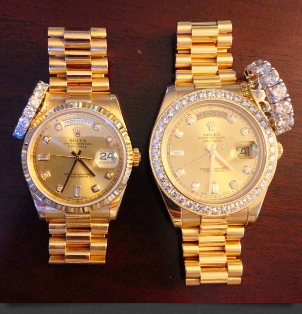 His &her His and hers rolex, Fashion watches, Gold watch