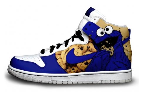 Krümelmonster Schuhe, Turtles & mehr Nike Custom