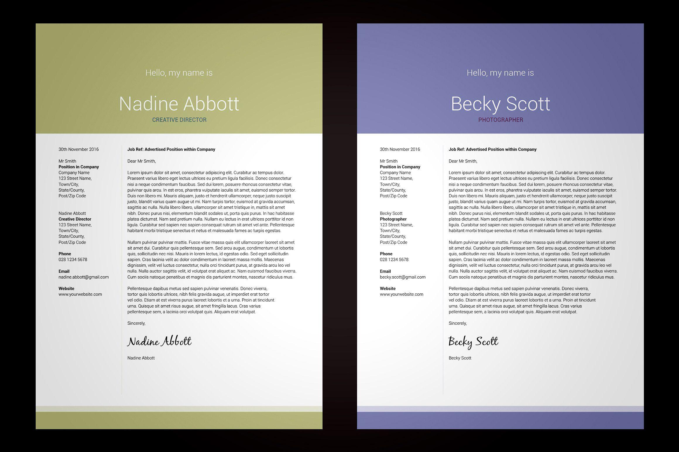 My Resume V3 Indesign resume template, Microsoft word