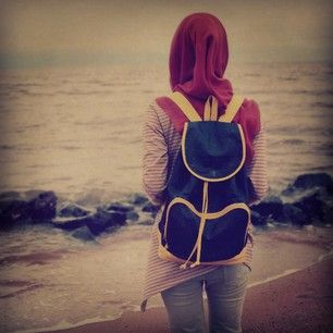 Hijab Girl On Sea Nice Profile Picture For Facebook Profile Picture Girl Stylish Dpz