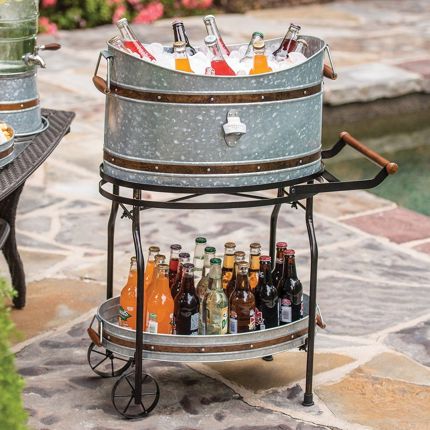 Rustic Outdoor Furniture For Your Farmhouse Beverage Tub Rustic Outdoor Furniture Party Bucket