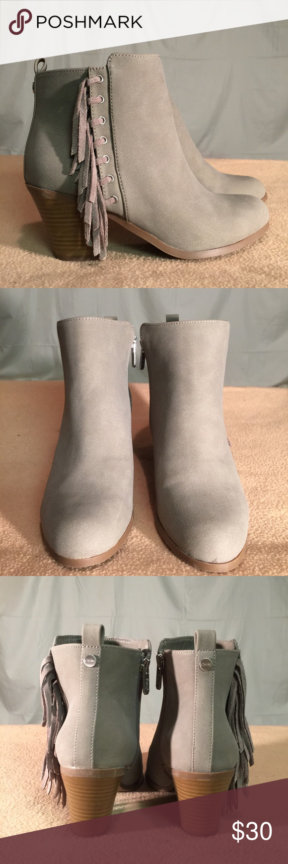 New Circus By Sam Edelman Greenish Gray Booties These Booties are Brand New/Never Worn and are in PERFECT CONDITION. The heel height of this shoe is 3 inches tall. Circus by Sam Edelman Shoes Ankle Boots & Booties