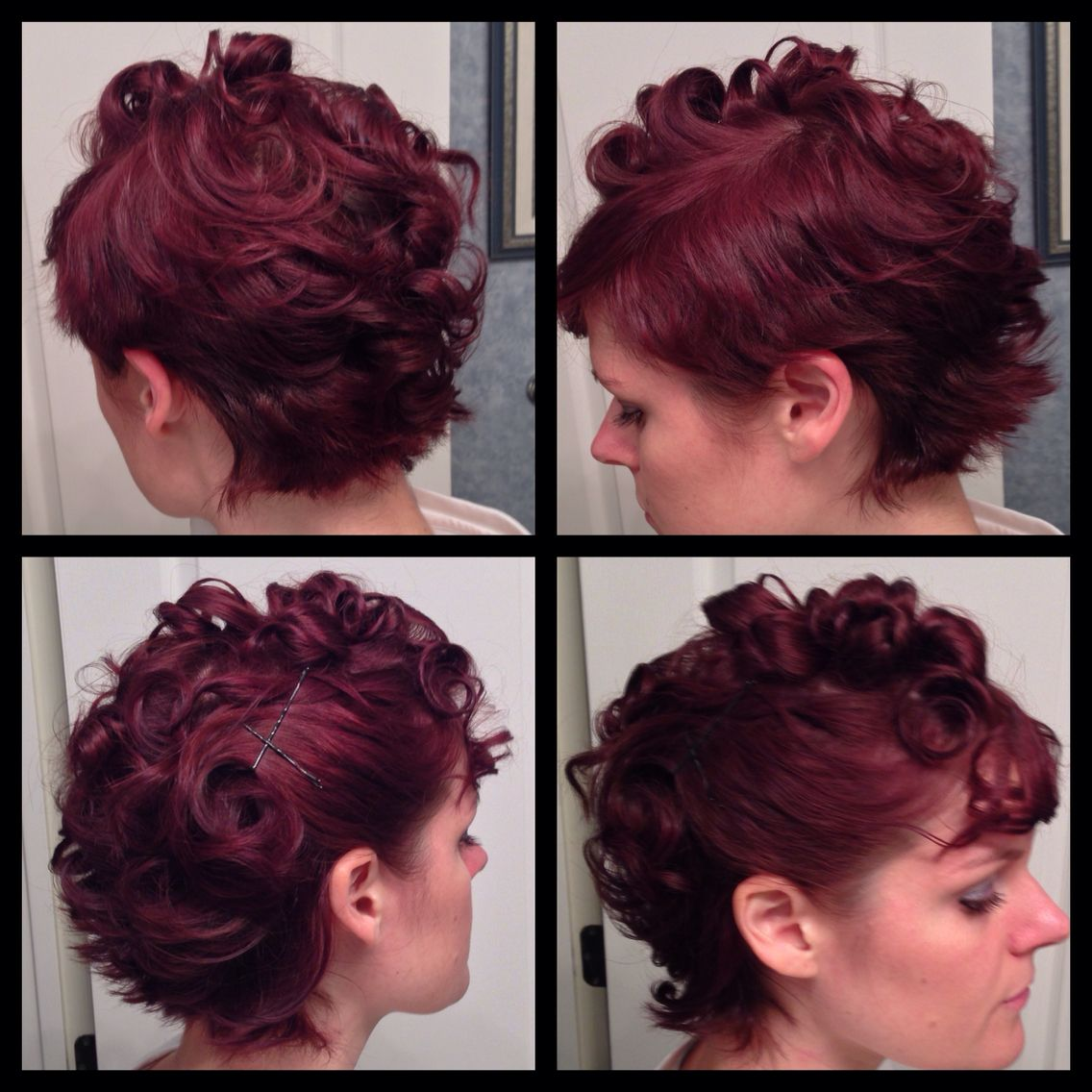 Curly up do for short hair shorthair updo curls redhair