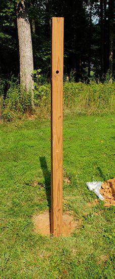 Hurley Byrd How Installing A Large Pole Mounted Bird Feeder Wooden Bird Feeders Bird Feeder Stands Bird Feeder Poles