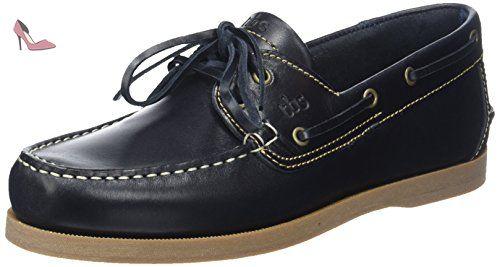 Phenis A8, Chaussures Bateau Homme, Bleu (*Marine + Miel), 40 EUTBS