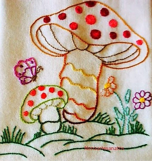Vintage Hand Embroidery Embroidery Pattern Pinterest Hand