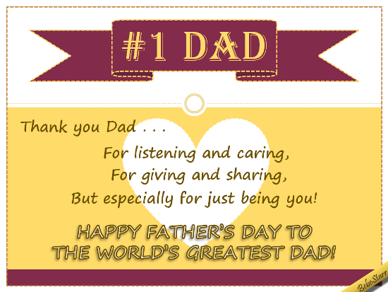 a  fathersday ecard for the  worldsgreatestdad  see all my  ecards at  123greetings com