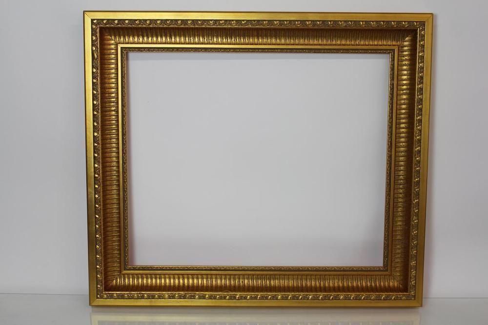 77x67 cm goldener Rahmen Bilderrahmen Prunkrahmen Holz Stuck ...