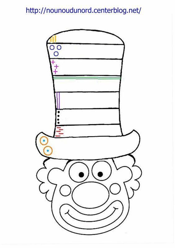 Coloriage Cirque Pdf.Coloriage Clown Excercice Sur Le Chapeau A Imprimer Cirque