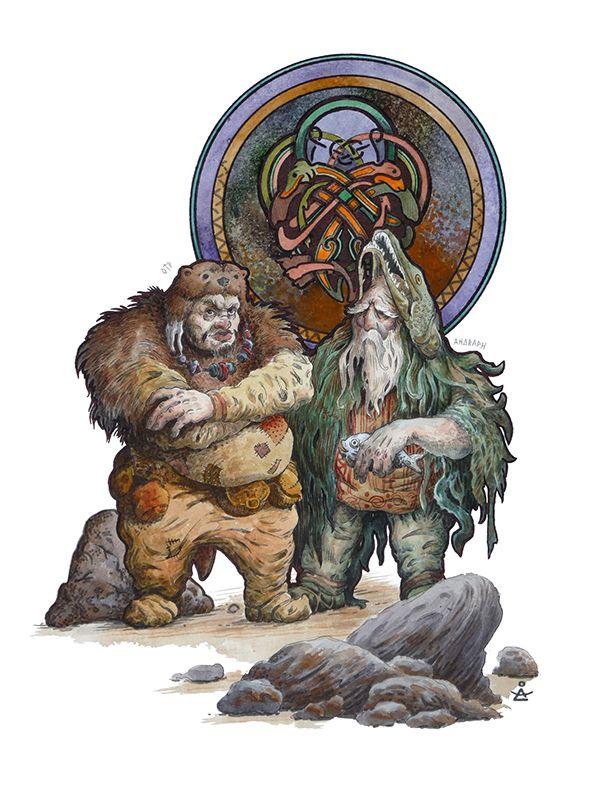 Scandinavian Mythology Part 6 On Behance Mythology Norse Myth Norse Mythology