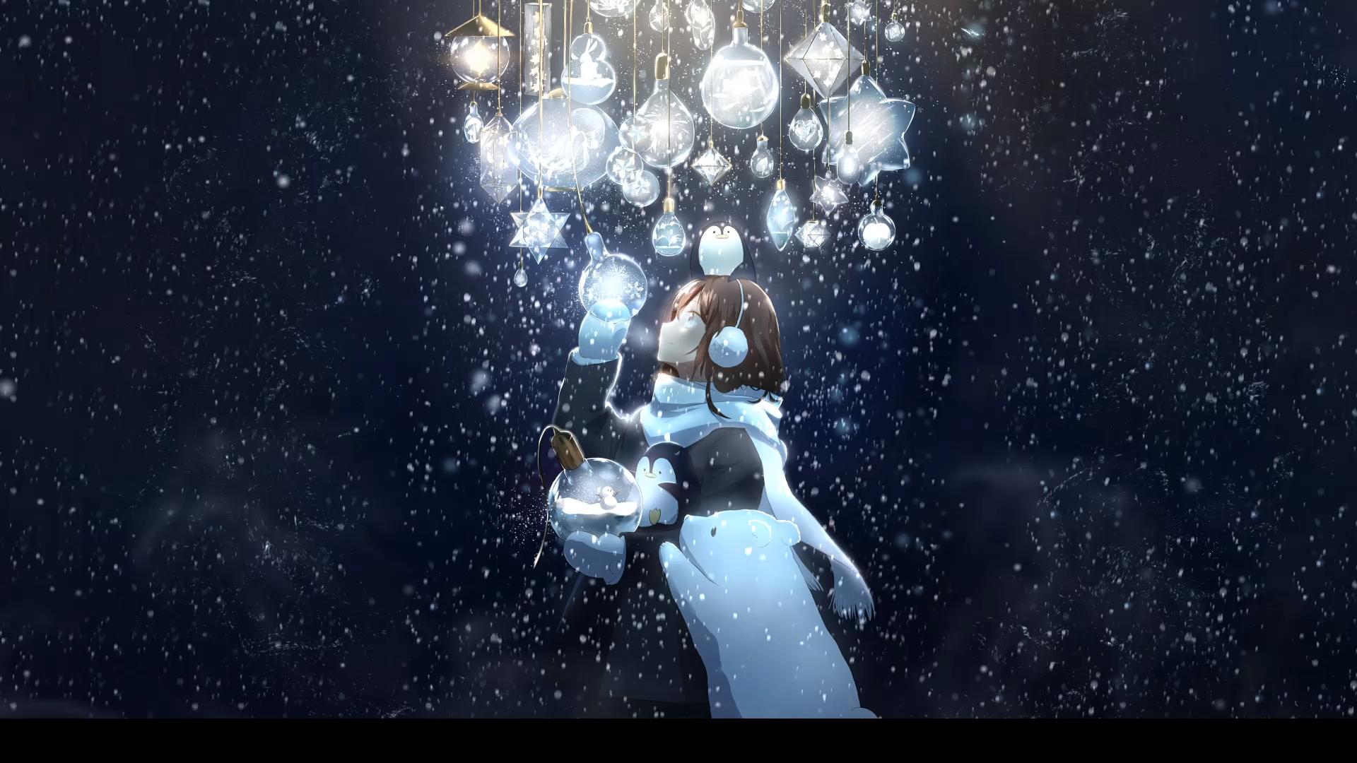 Snow Girl anime background Snow Girl Anime Wallpaper