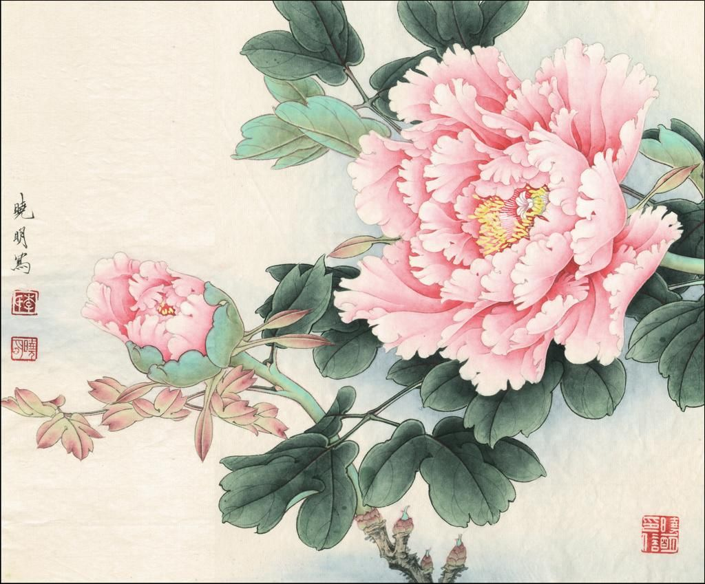 How To Paint An Oriental Flower In 2020 Peony Painting Oriental