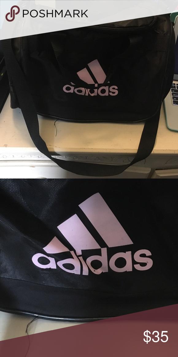 Addidas duffel bag Black and light pink addidas sports bag Adidas Bags  Travel Bags 683f08b9bd491