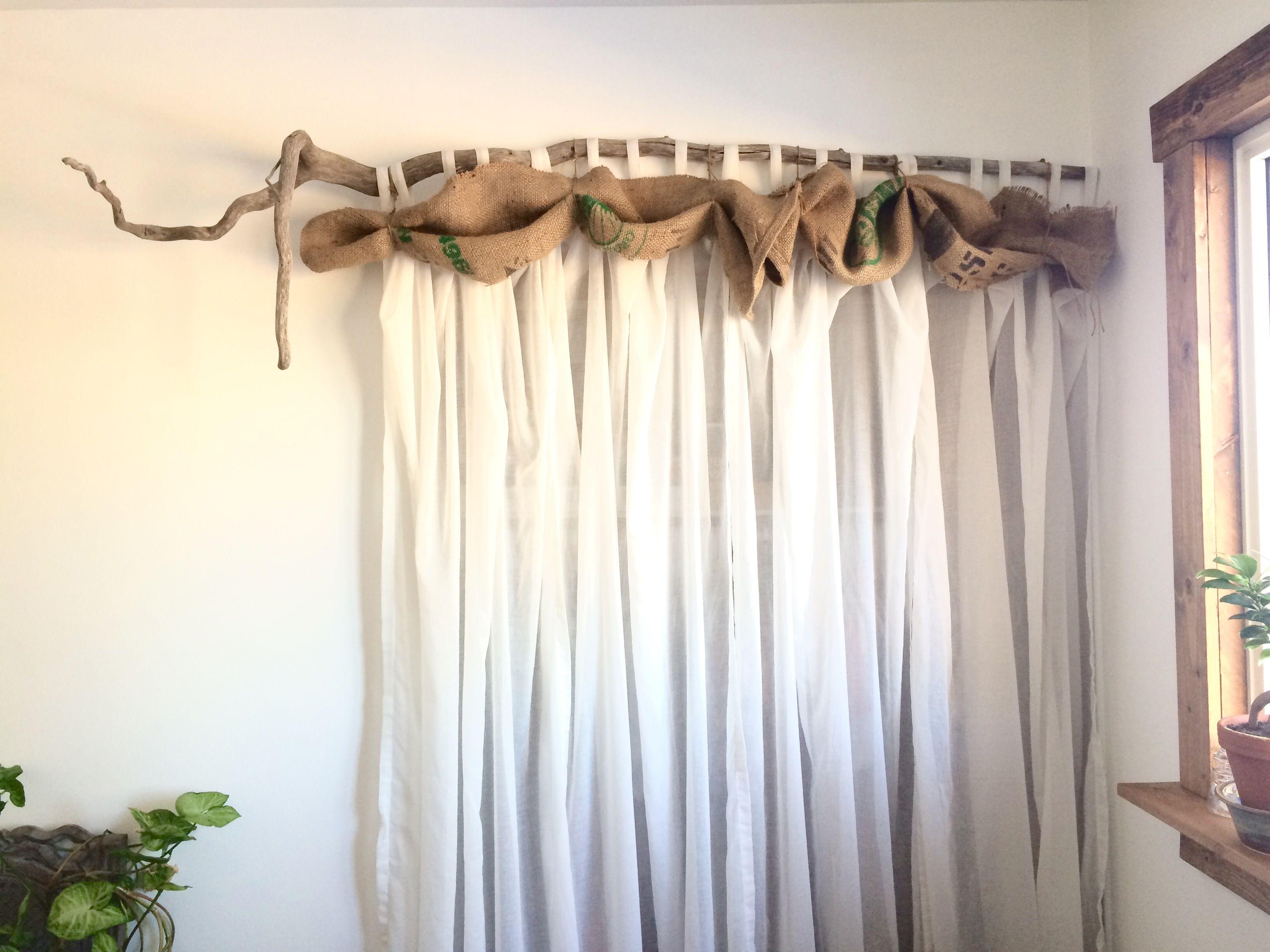 Driftwood Curtain Rod Cabin Decor Curtains My Room