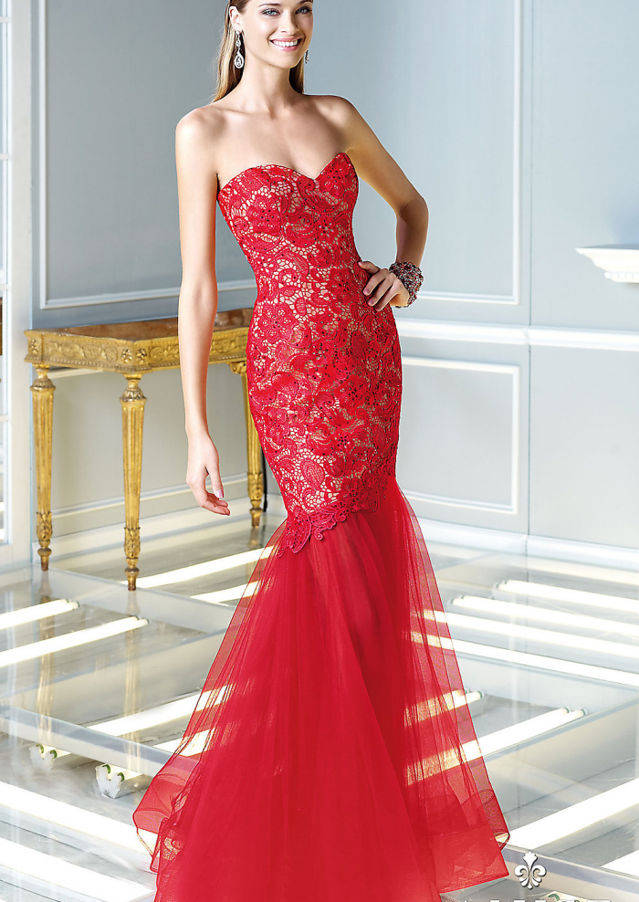 mermaid-red-lace-formal-dress-prom-dress-2015-spring-alyce-b ...
