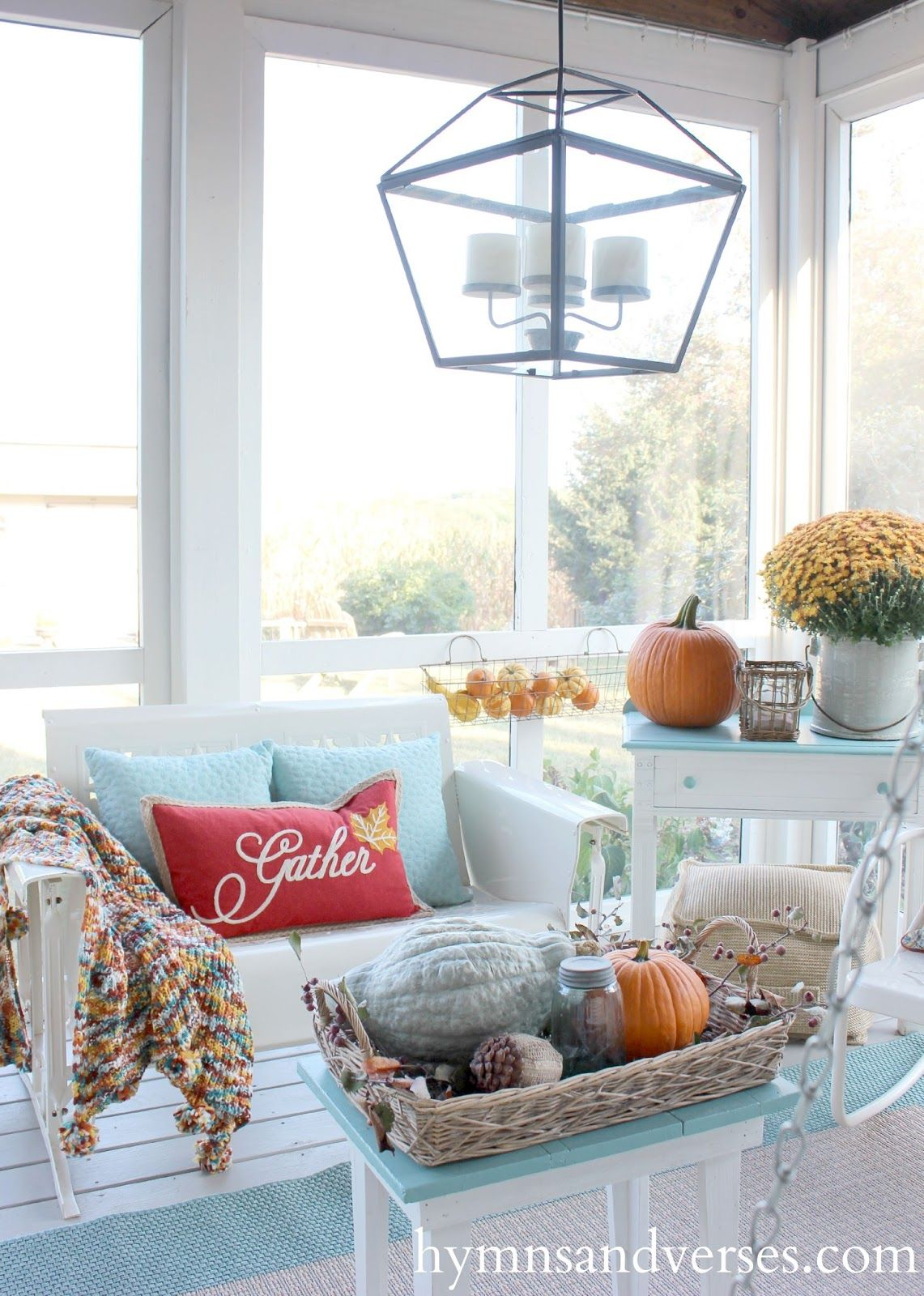 2015 Fall Home Tour | Front porches, Porch and Screened porches