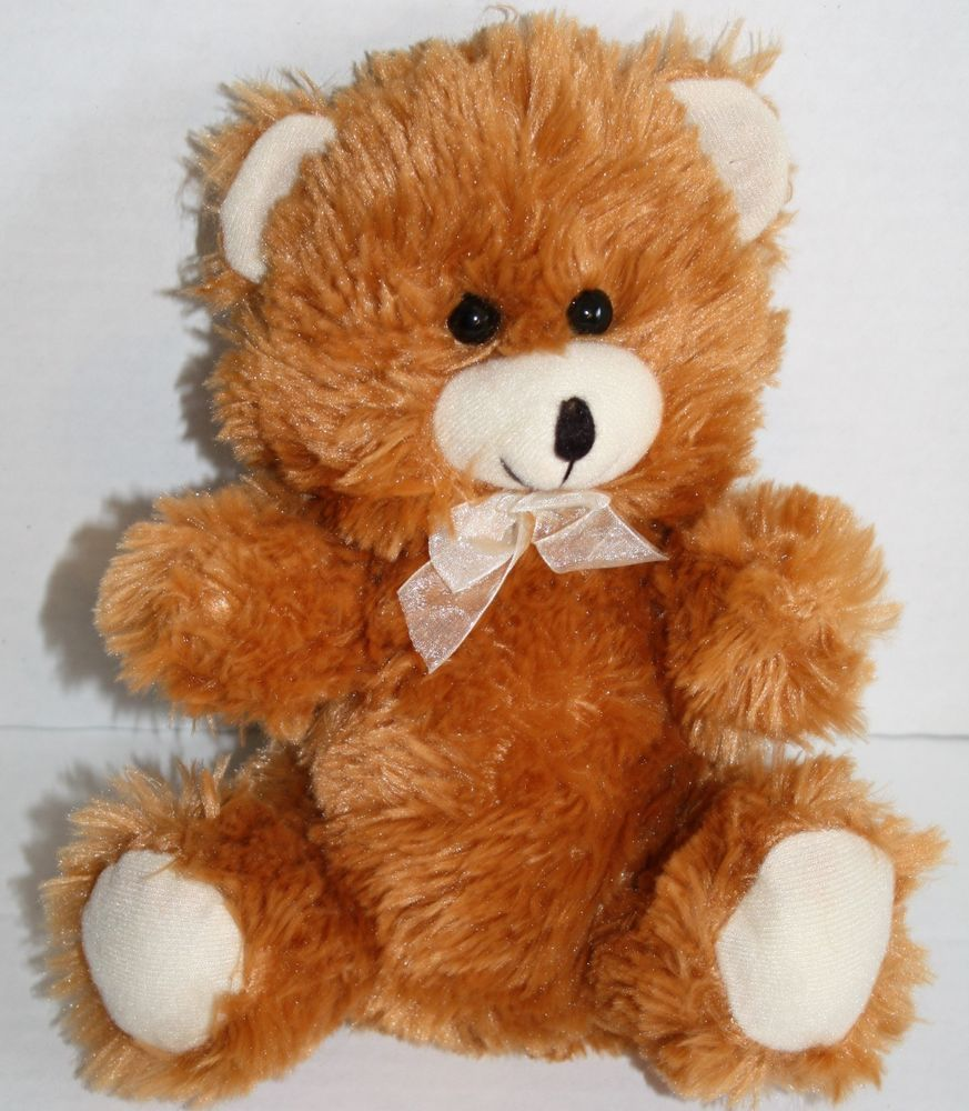"Greenbrier Int'l teddy bear rust brown 10"" plush stuffed"