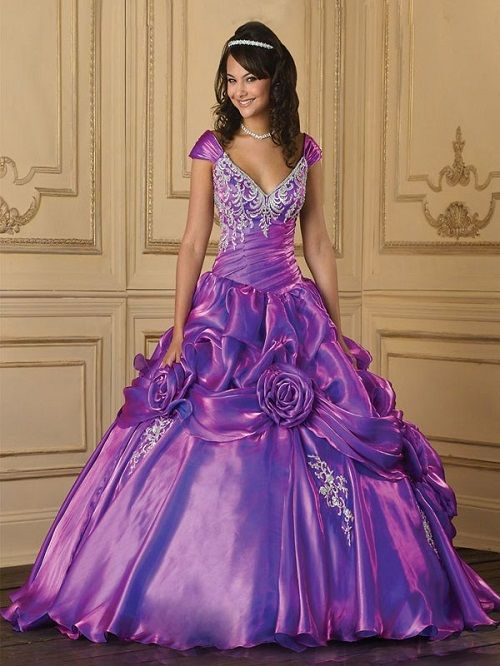 Purple Ball Gown Wedding Dresses