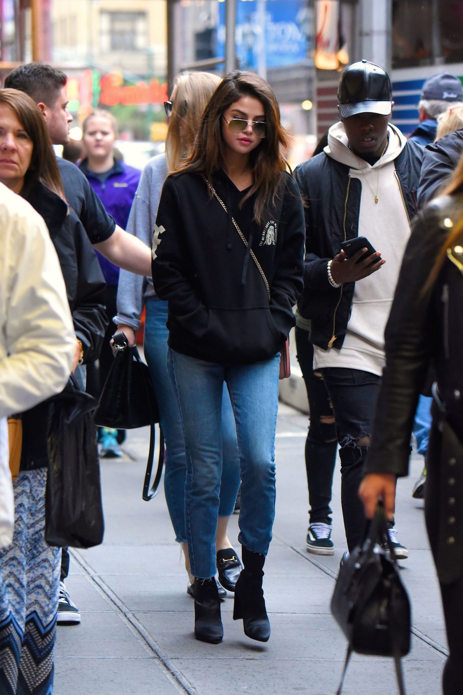 ab9a2835fccb Selena Gomez Gives The Weeknd a New York City Street Style Shoutout ...