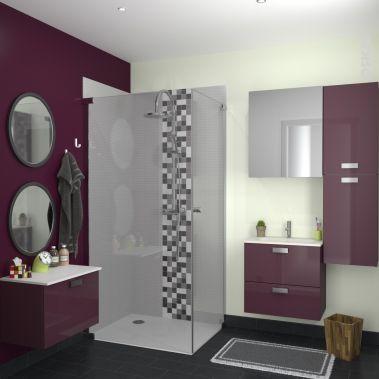 La salle de bain Luxy aubergine Décorationmaison Pinterest