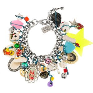 Venessa Arizaga Pinata silver-plated charm bracelet.