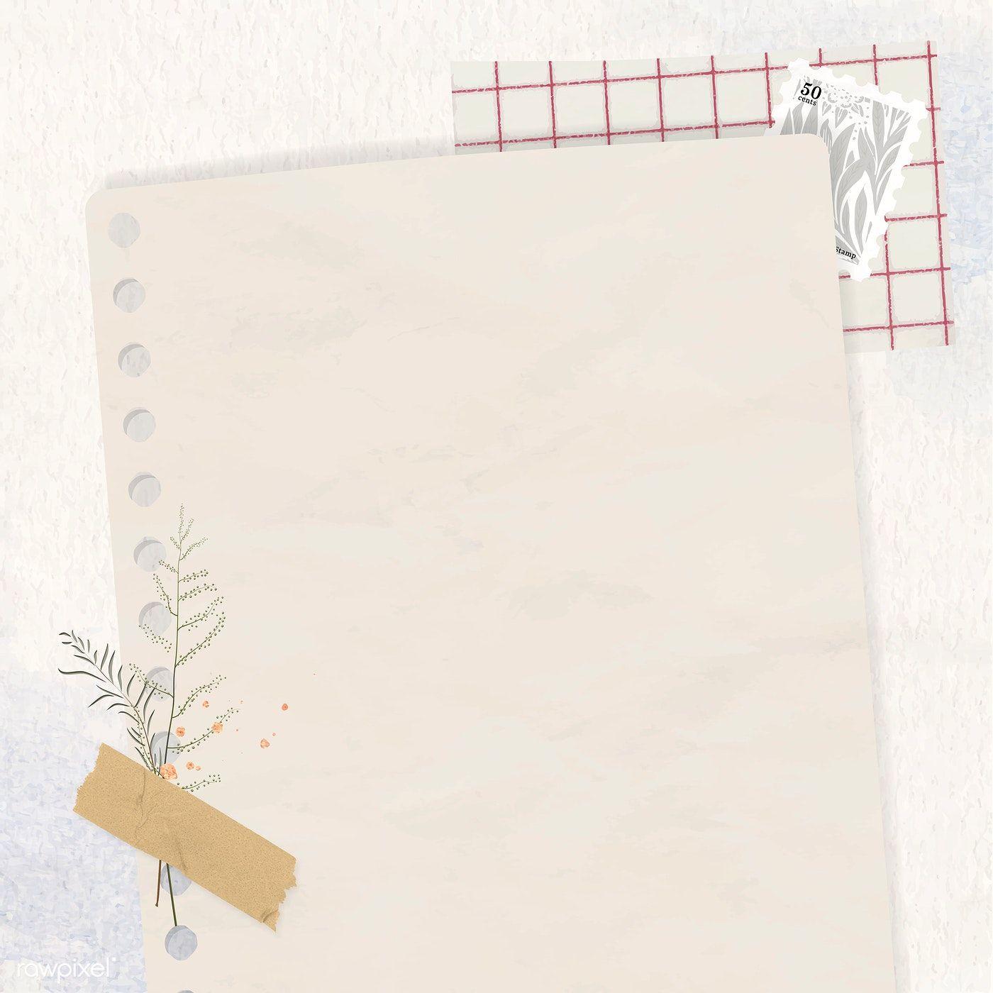 Download Premium Vector Of Ripped Beige Paper Background Vector 1215935 Paper Background Paper Background Texture Crumpled Paper Background