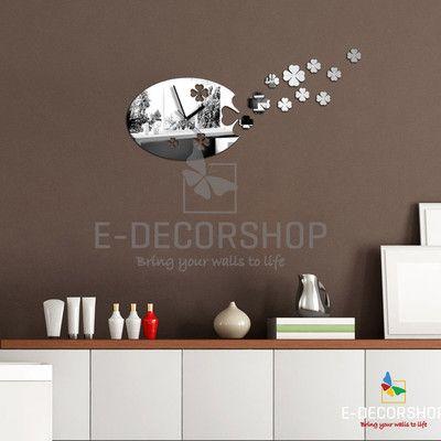 Fancy Neu Spiegel Moderne Wanduhr Design Wandtattoo Dekoration Uhren eBay