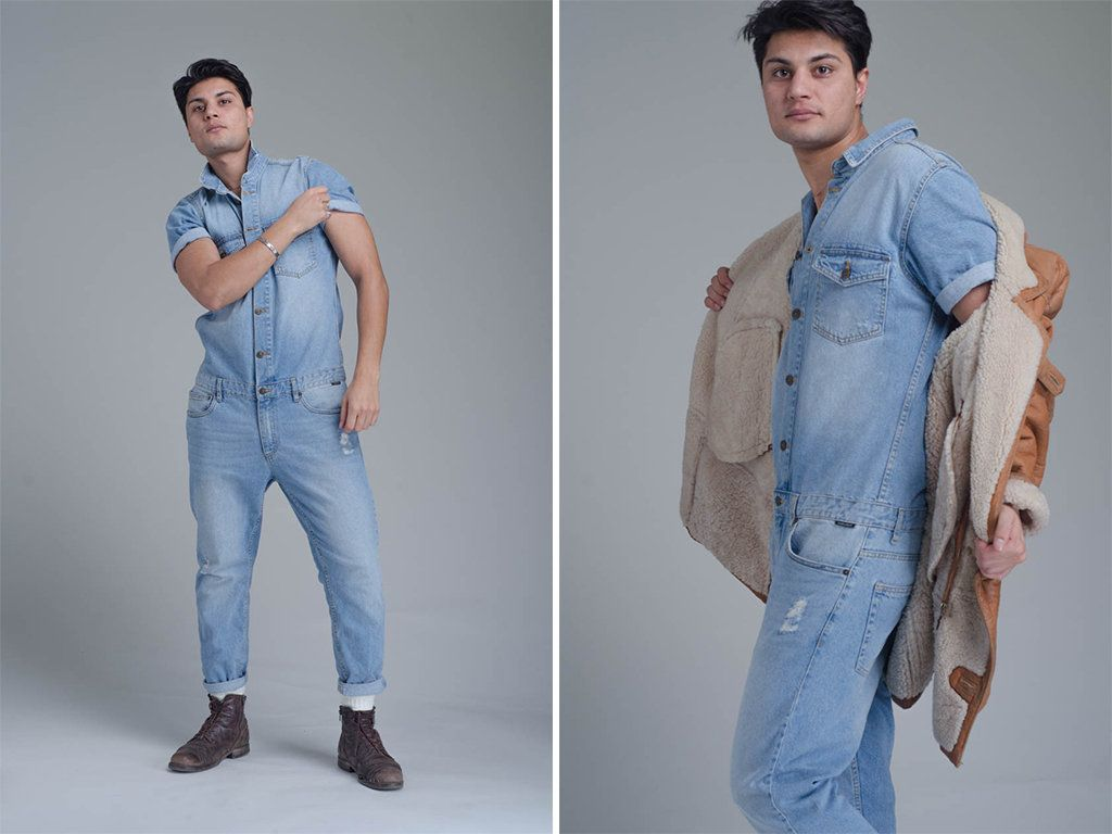 e040cf1b435 Mens Denim Jumpsuit - Denim Overalls - 70s Vintage Style - Workwear -  Coveralls - One