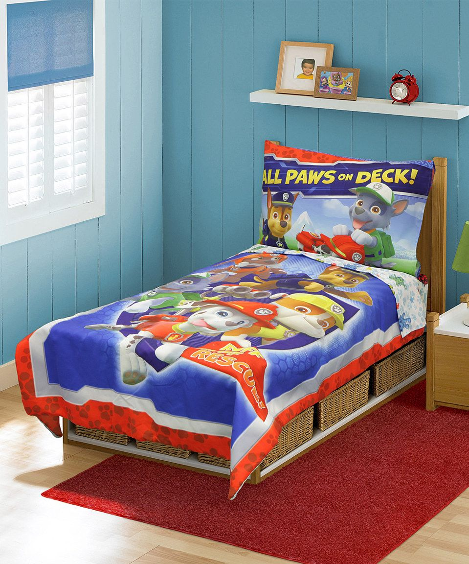 Love This Paw Patrol Comforter Set By Paw Patrol On Zulily Zulilyfinds Toddler Bed Set Toddler Bed Kids Bedding Sets
