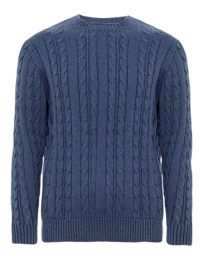 men's cable knit jumper in xs