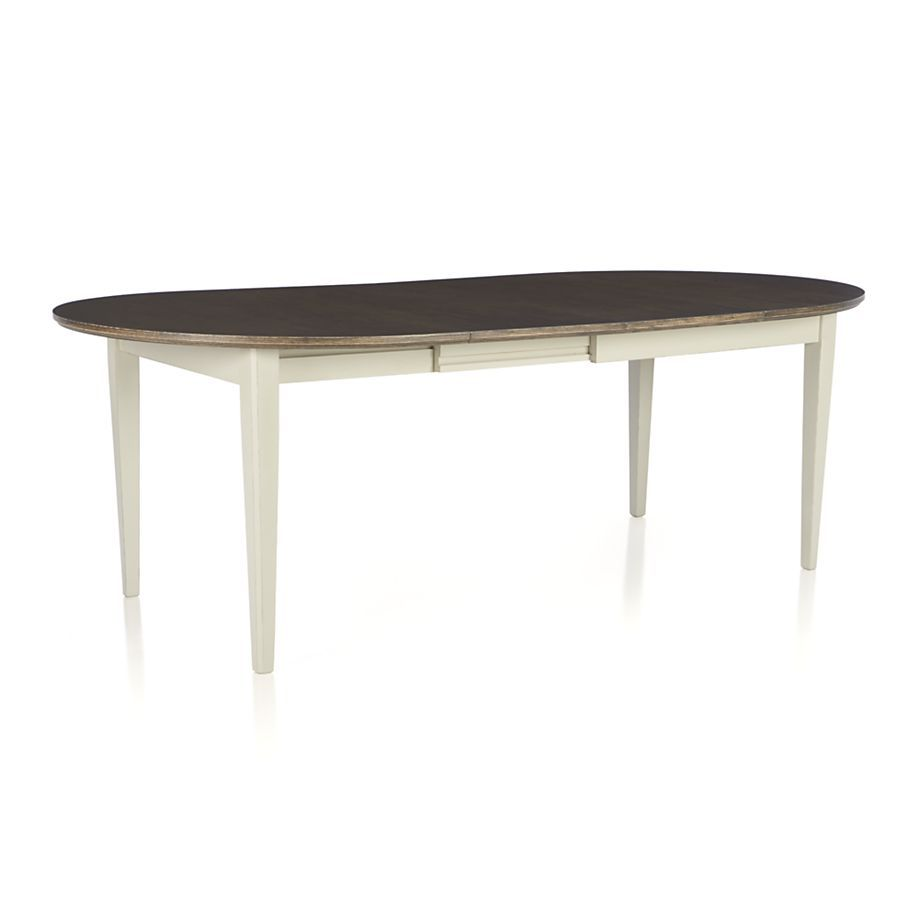 Metra extension dining table crate and barrel - Pranzo Ii Vamelie Oval Extension Dining Table