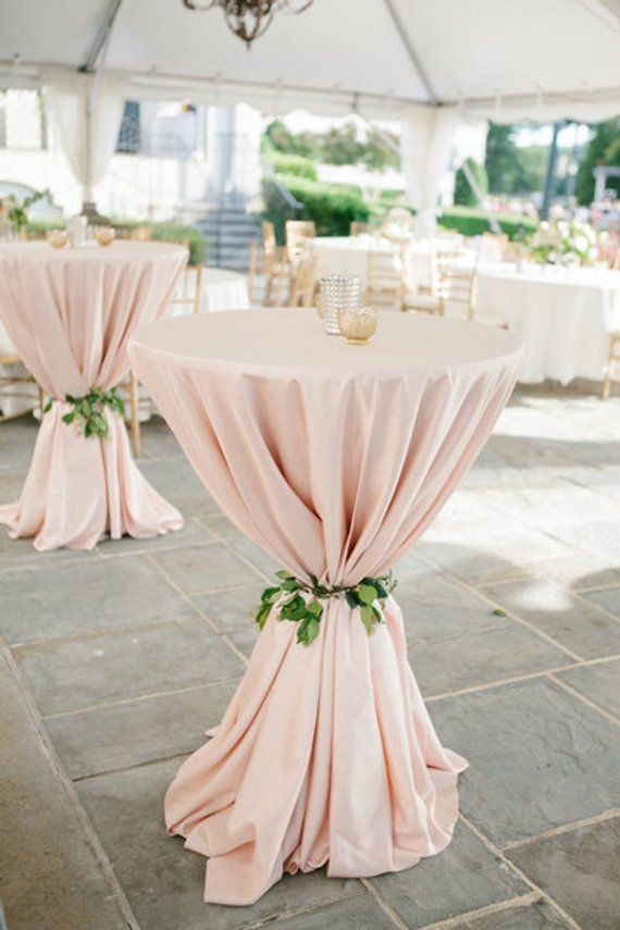 Photo of Blush Tablecloth, Cocktail table, 120″ Round, 90″x156″, 90″x132″, 132″ Round 1DAYFREESHIP, Sweet 16, Derby, BBQ party, Quinceaneras