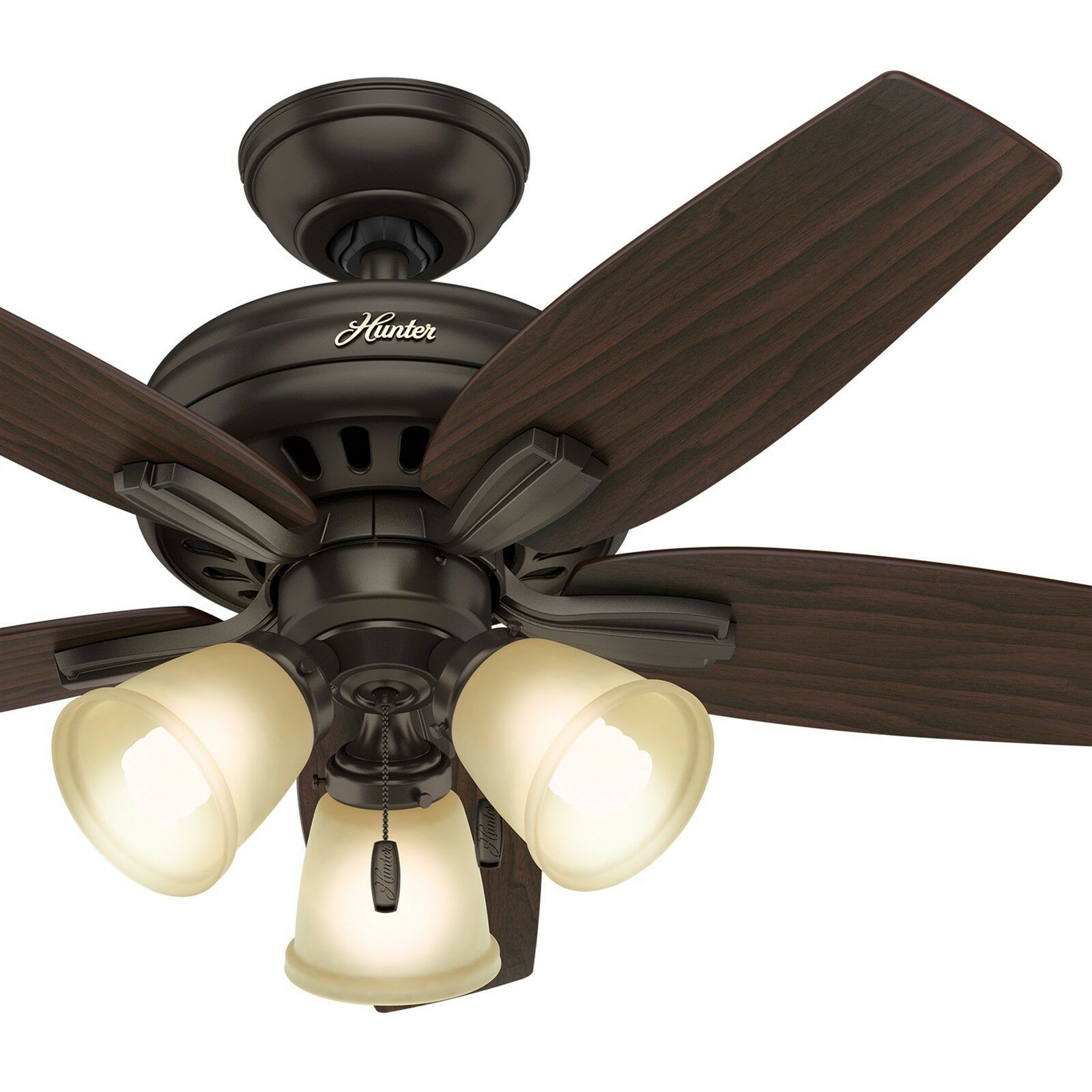 Bronze Ceiling Fan With 3 Lights