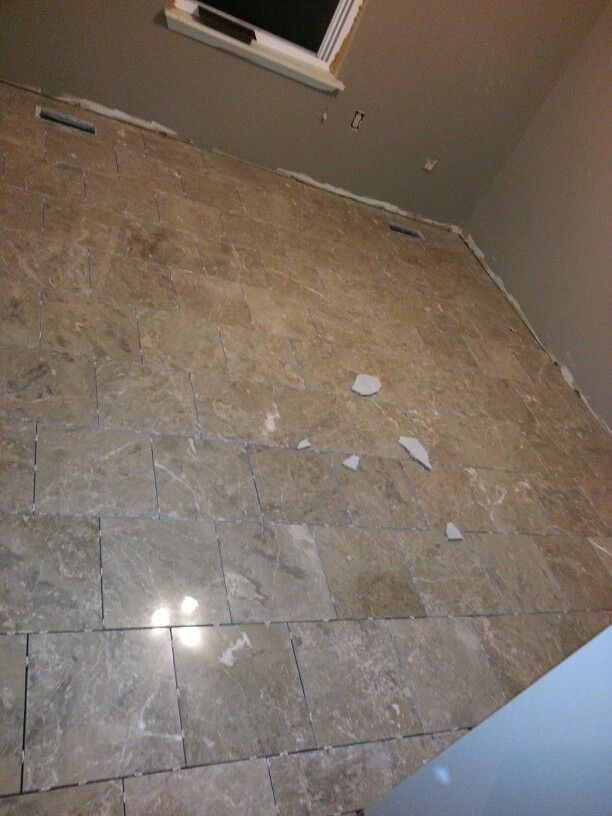 Marble flooring in walk in closet.  Total time: 1 day